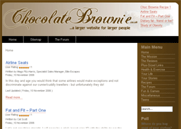 Chocolate Brownie...a larger website for larger people