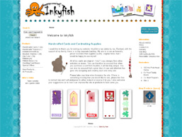 Inkyfish handmade cards and cardmaking supplies