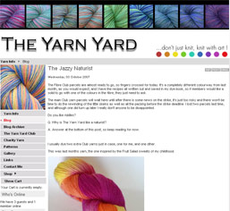 The Yarn Yard : Don't Just Knit, Knit with Art